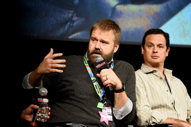 <p>File image: Robert Kirkman speaking during The Walking Dead Franchise at New York Comic Con 2019</p>