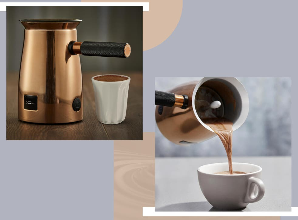 <p>The gadget heats and whisks the milk and hot chocolate together to create a silky smooth mixture and frothy top</p>