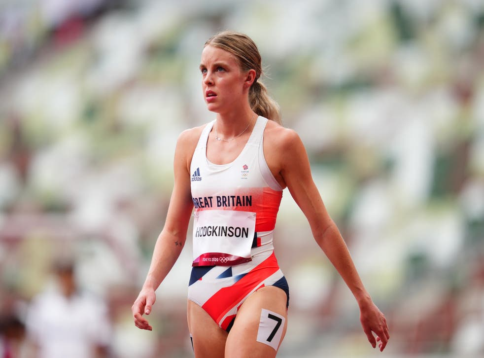 <p>Keely Hodgkinson finished second in her heat</p>