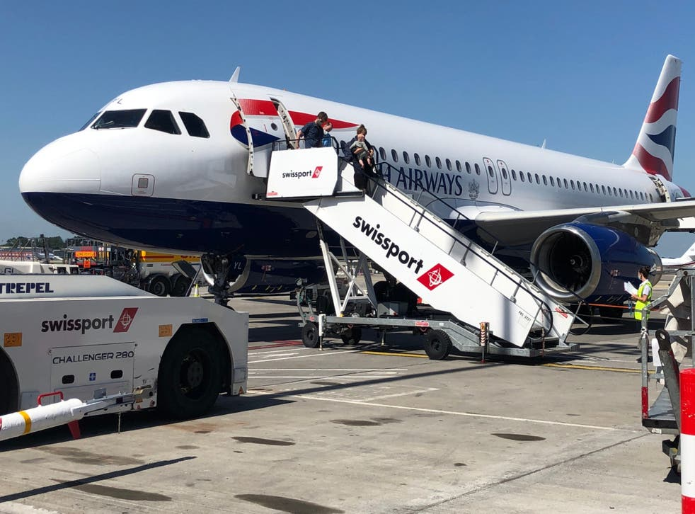 <p>Half full: British Airways Airbus A320 at Dublin airport. The IAG group filled 49.2% of seats in the first half of 2021</p>