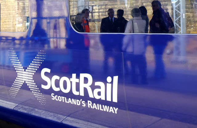 ScotRail is one of three train operators hit by industrial action (Jane Barlow/PA)