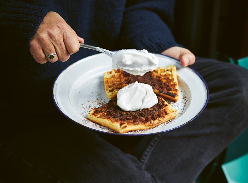 <p>Why have just a marshmallow when you can have coconut waffles?</p>