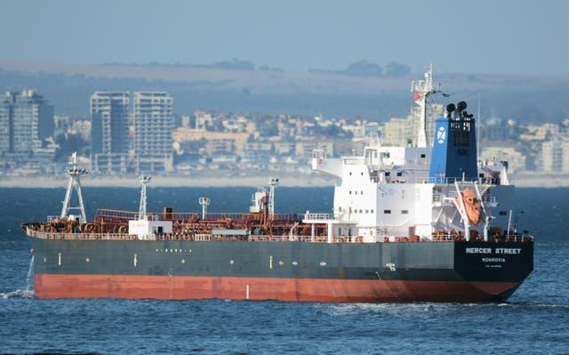 <p>The oil tanker Mercer Street </p>