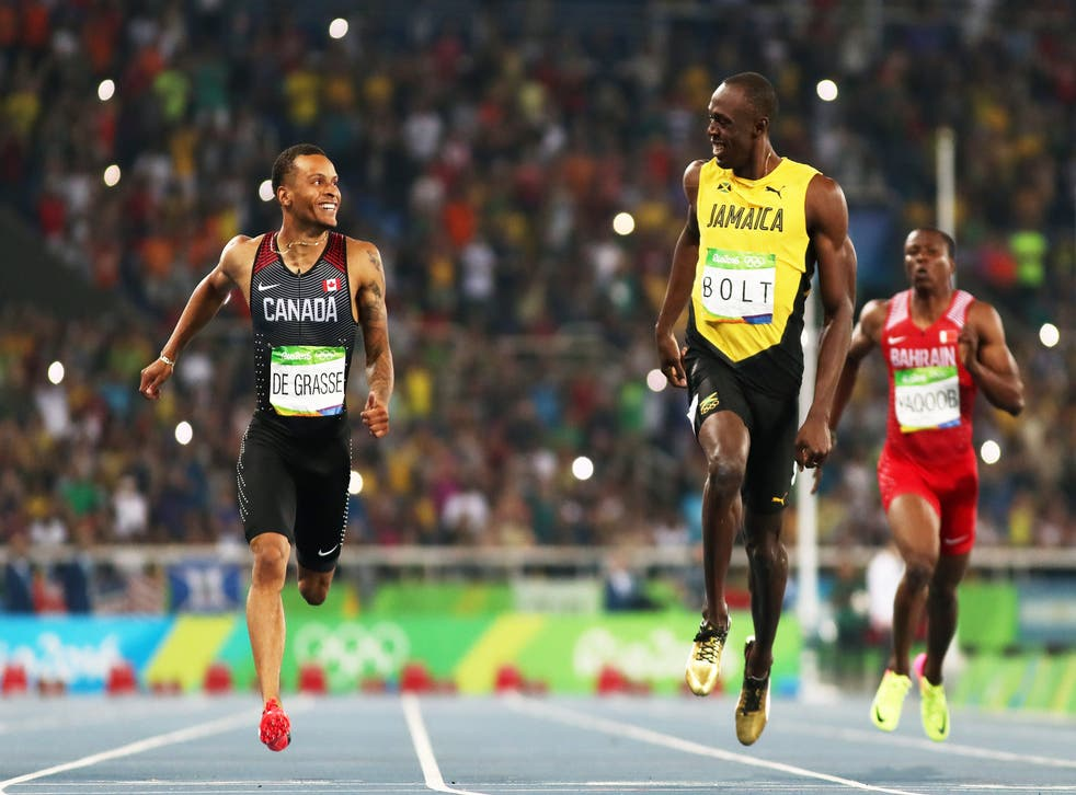 <p>'It's pretty cool to line up against the fastest human being ever'</p>