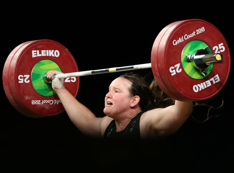 <p>New Zealand's Laurel Hubbard lifts in the snatch of the women's 90kg weightlifting final at the 2018 Commonwealth Games on the Gold Coast, Australia</p>