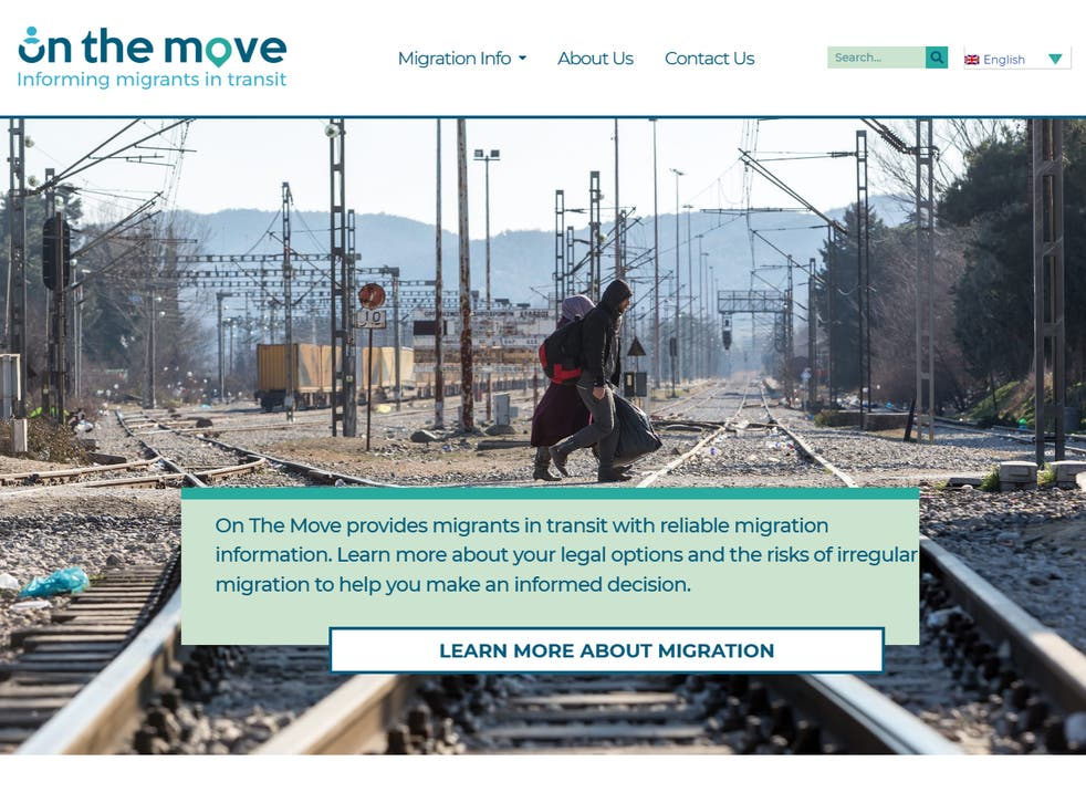 <p>The On The Move website was set up by the Home Office but does not disclose its affiliation</p>