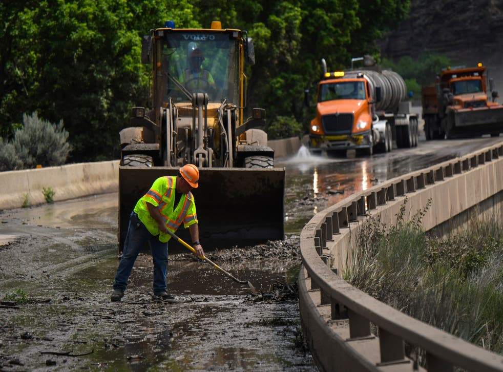 Trapped in Tunnel Mudslides Colorado