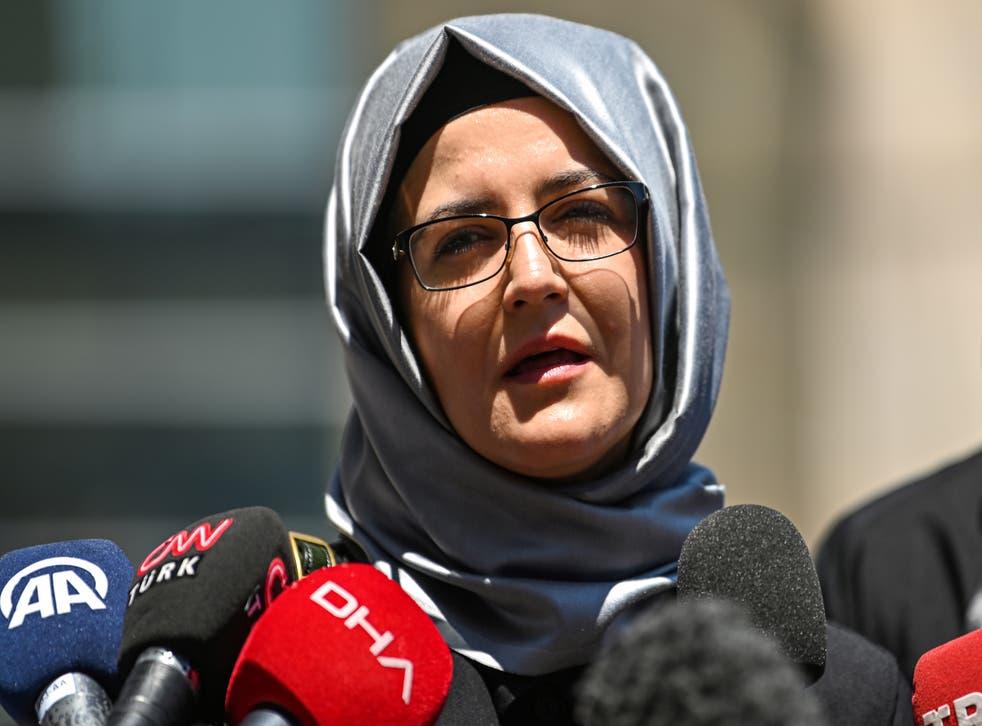 <p>Hatice Cengiz has said nobody has right to pardon her partner's killers</p>