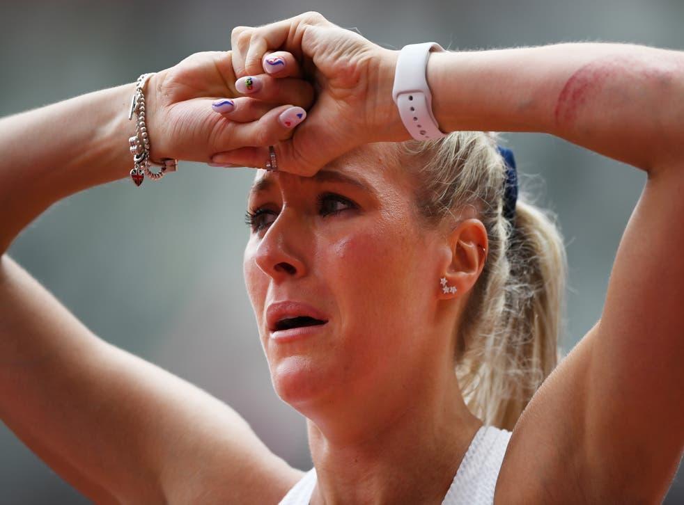 <p>Jessie Knight was devastated after falling</p>