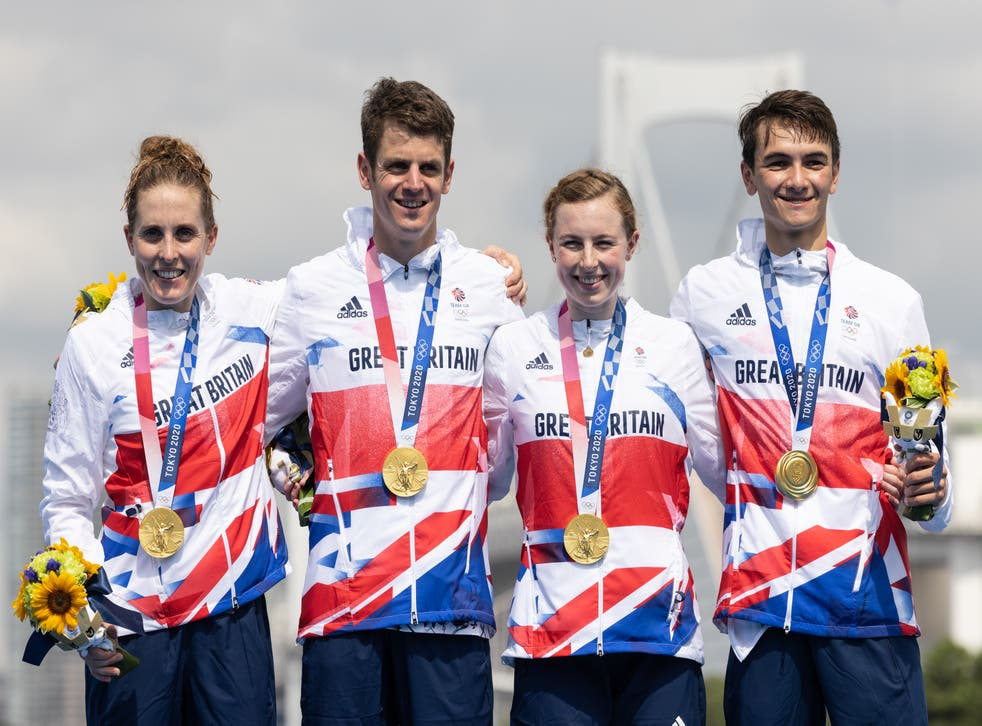 <p>The British relay team finished 14 seconds ahead of the United States in second place</p>