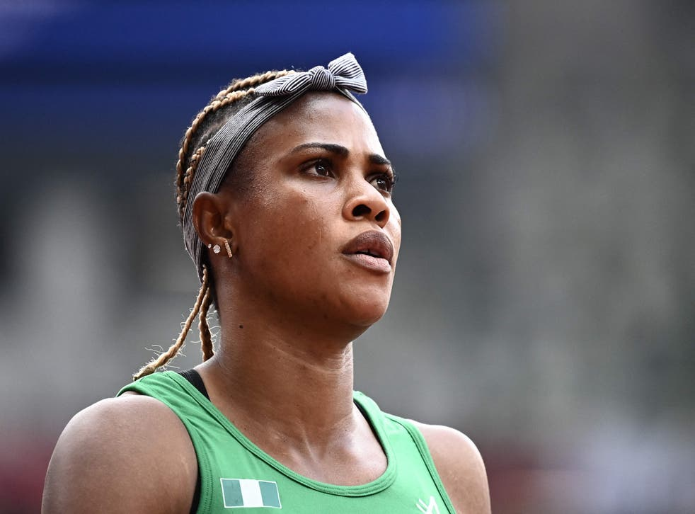 <p>Blessing Okagbare ran during the heats</p>