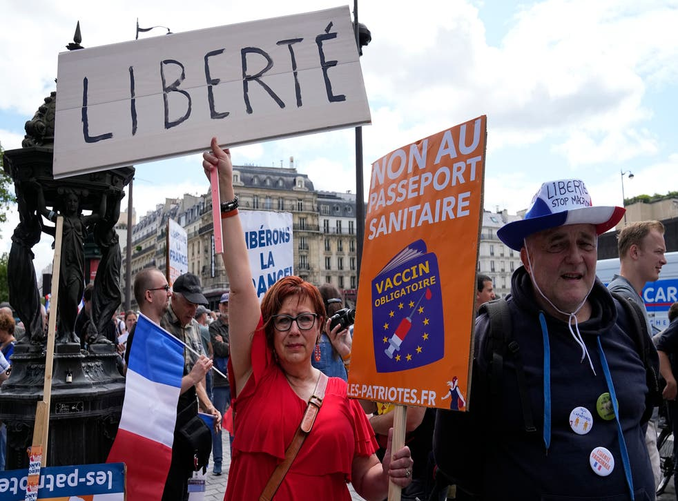 France Virus Outbreak Protests