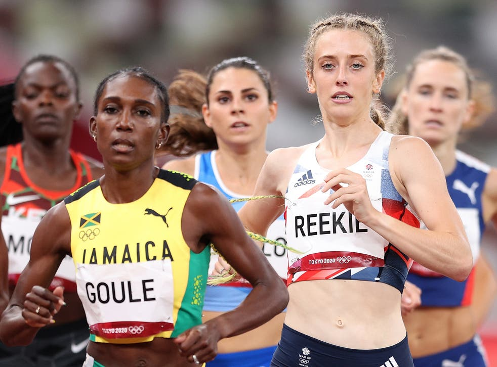 <p>Jemma Reekie in action in the women's 800m semi-final</p>