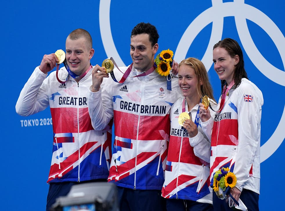 Great Britain celebrated more success in the pool on Saturday (Adam Davy/PA)
