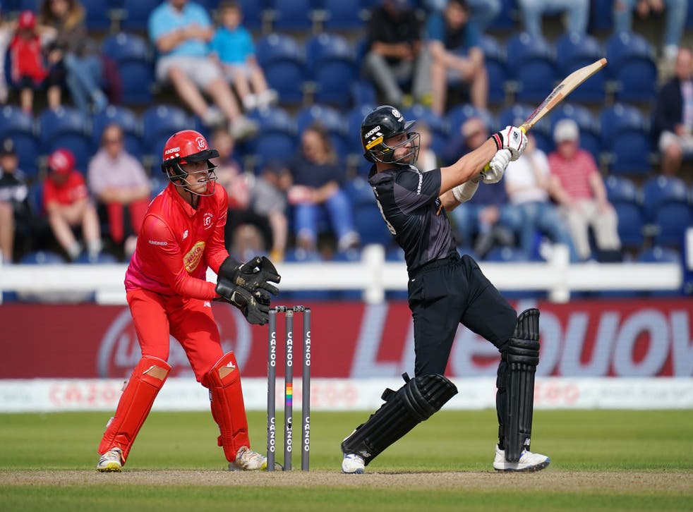 Joe Clarke impressed with the bat for Manchester Originals at Sophia Gardens (David Davies/PA)