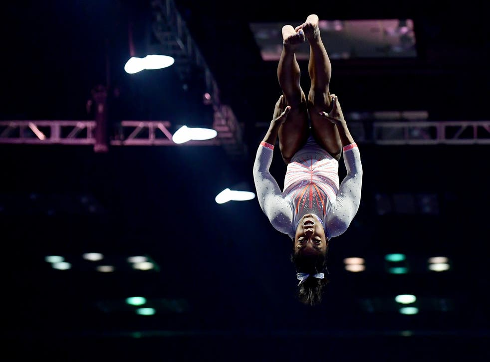 <p>Simone Biles put her own mental health ahead of the competition</p>