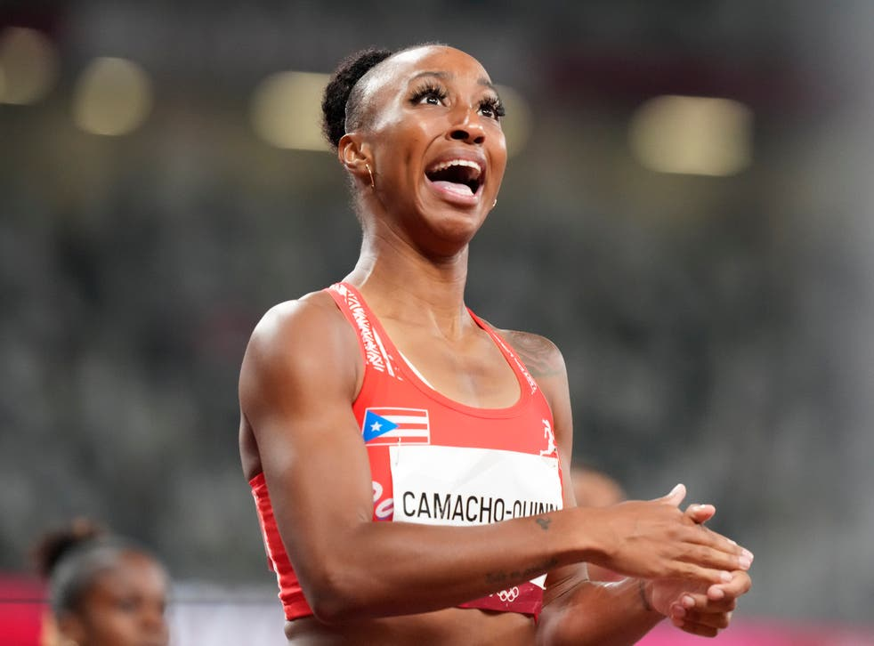 <p> Camacho-Quinn took the gold medal with a time of 12.37sec</p>