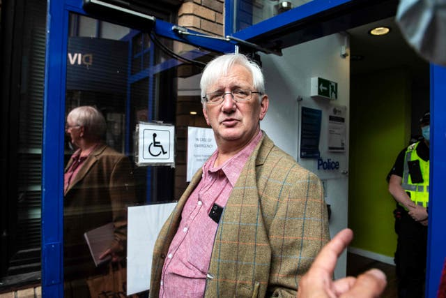 <p>Murray, 62, presented himself to St Leonard's police station in Edinburgh on Sunday morning</p>