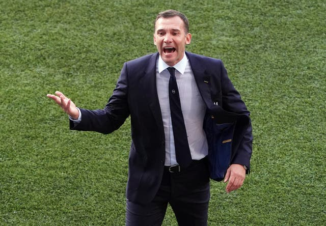 Andriy Shevchenko has stepped down as Ukraine manager (Andrew Milligan/PA)