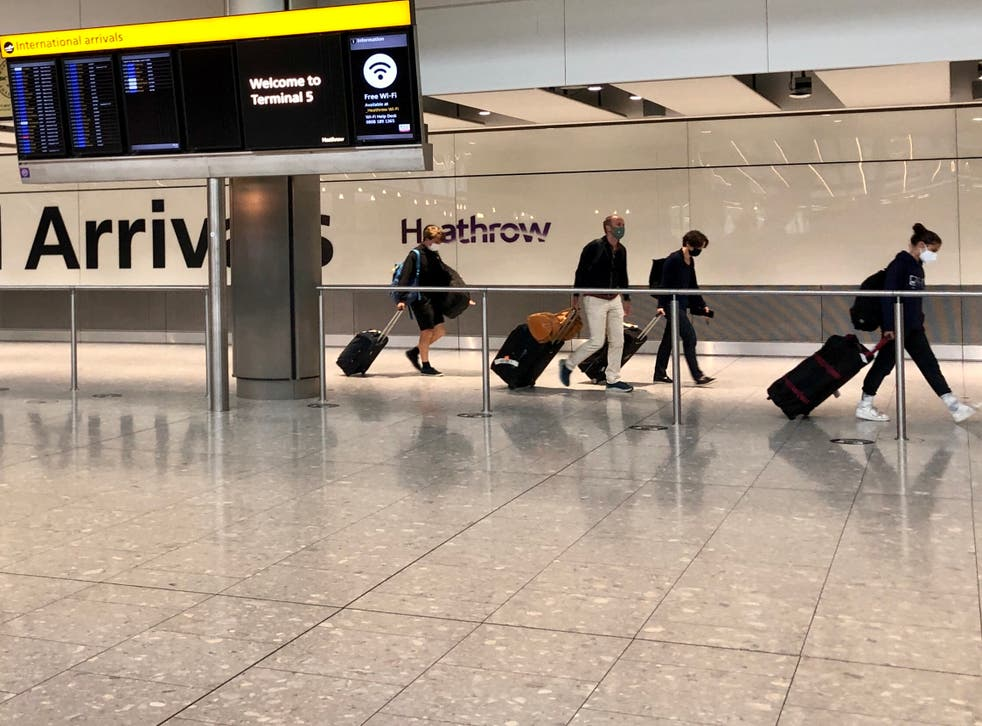 <p>Welcome sight: arrivals at Heathrow airport Terminal 5</p>