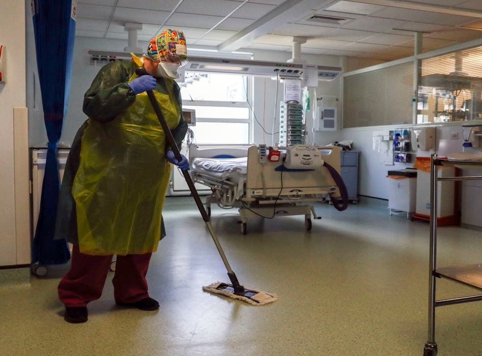 <p>Ms McAnea said cleaners, porters and catering staff had worked 'tirelessly' alongside their NHS colleagues</p>