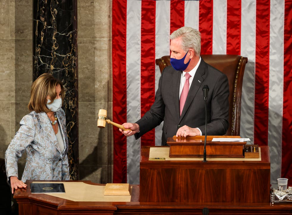 <p>Kevin McCarthy is under fire after joking about hitting Nancy Pelosi with a gavel at a recent event in Tennessee.</p>