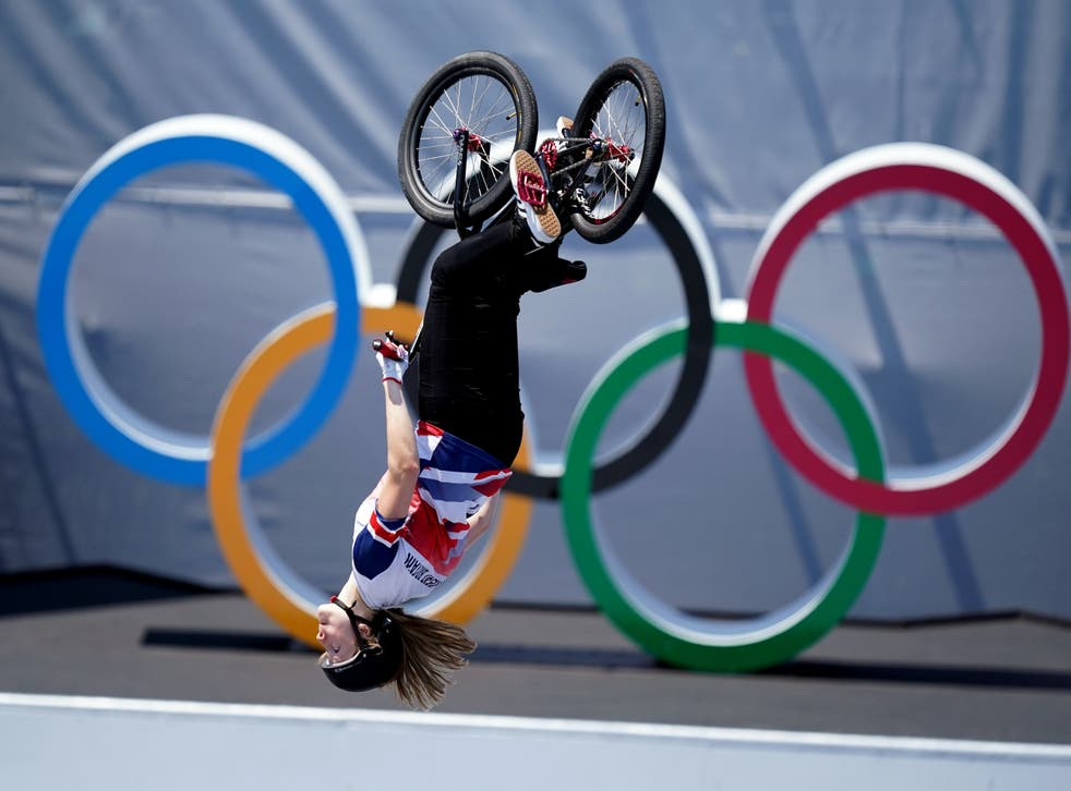 Charlotte Worthington won the gold medal in the women's BMX freestyle at Tokyo 2020 (Mike Egerton/PA)