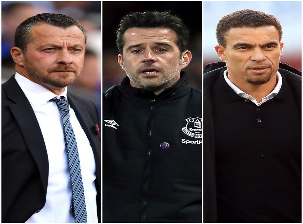 Slavisa Jokanovic, Marco Silva and Valerien Ismael are in new posts (Simon Galloway/ Richard Sellers/ Mike Egerton/PA)