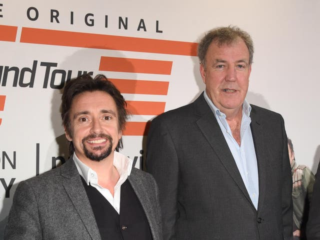 <p>Richard Hammond and Jeremy Clarkson pictured in 2019</p>