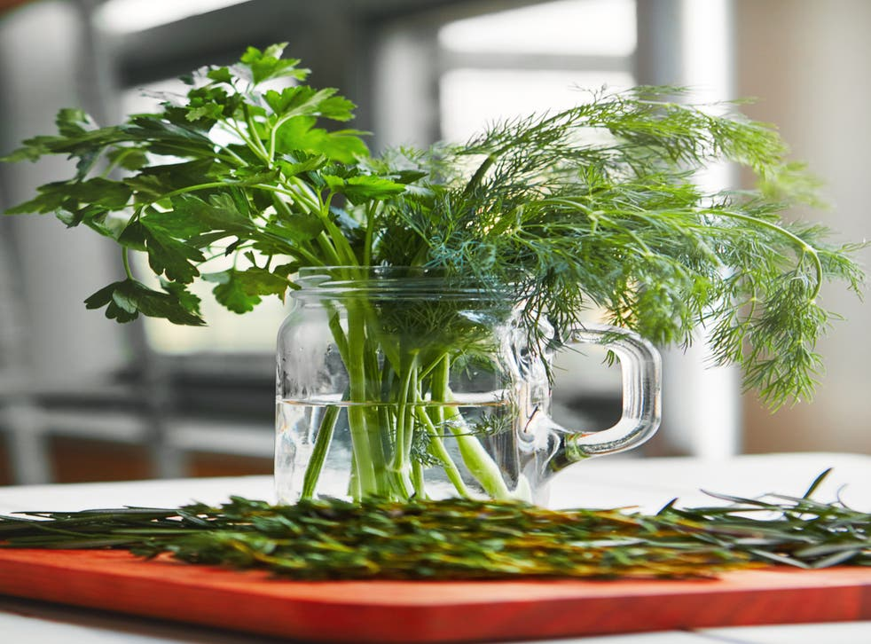 <p>Treat your fresh herbs like a bouquet of flowers, and change the water frequently</p>