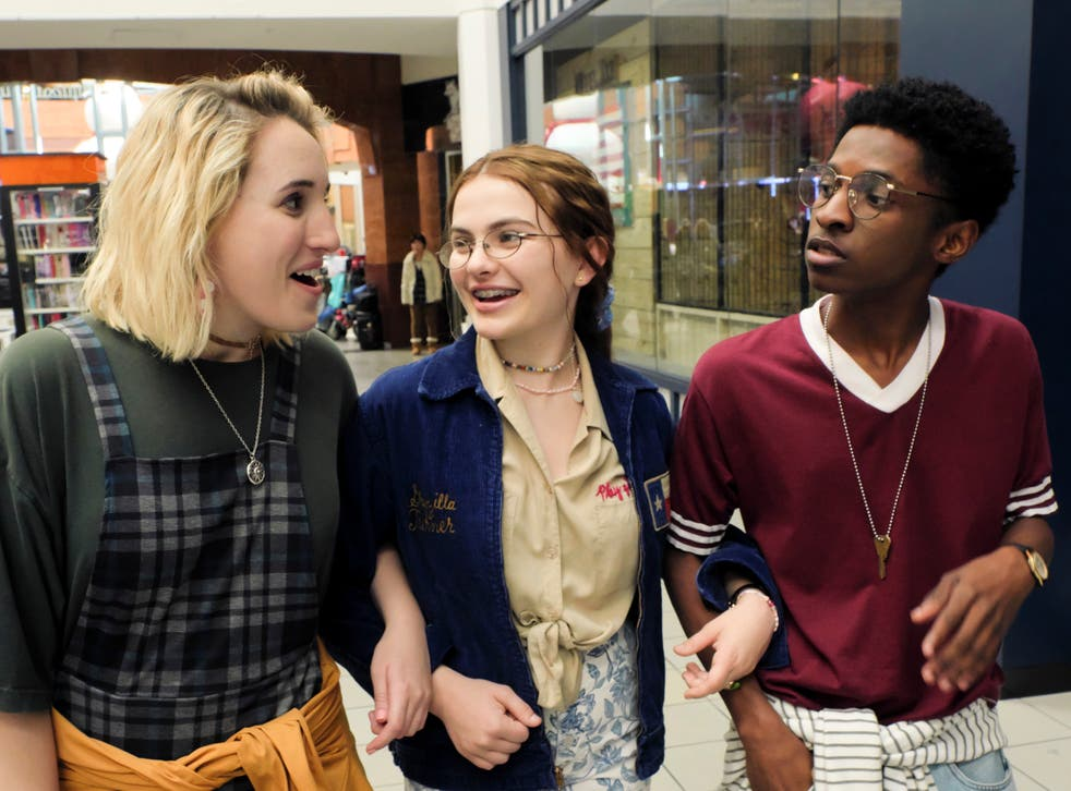 <p>Mall wonder: Harley Quinn Smith, Chiara Aurelia and Allius Barnes in 'Cruel Summer'</p>