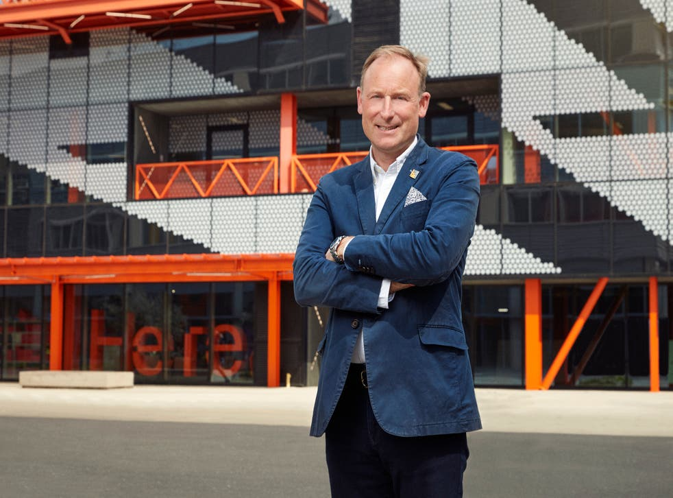 <p>Jump starter: Gavin Poole, chief of Here East, was inspired to join the RAF by Harrier jets as a boy</p>