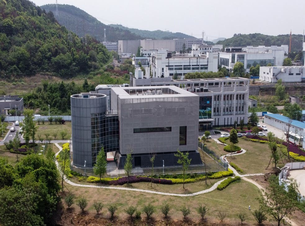 <p>An aerial view shows the P4 laboratory at the Wuhan Institute of Virology in Wuhan in China</p>