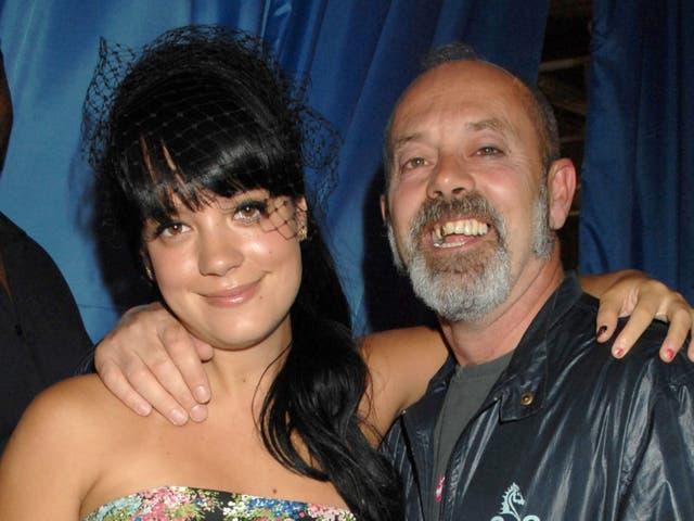 Lily y Keith Allen en 2007