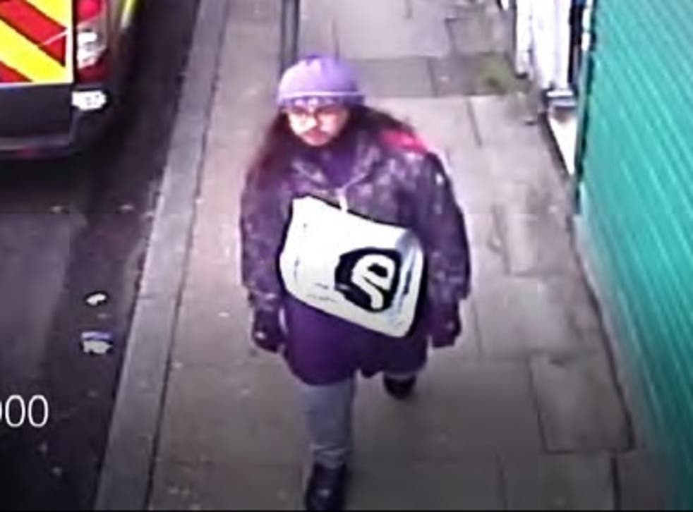 <p>A CCTV still showing Sudesh Amman on his way to commit the Streatham terror attack on 2 February 2020</p>