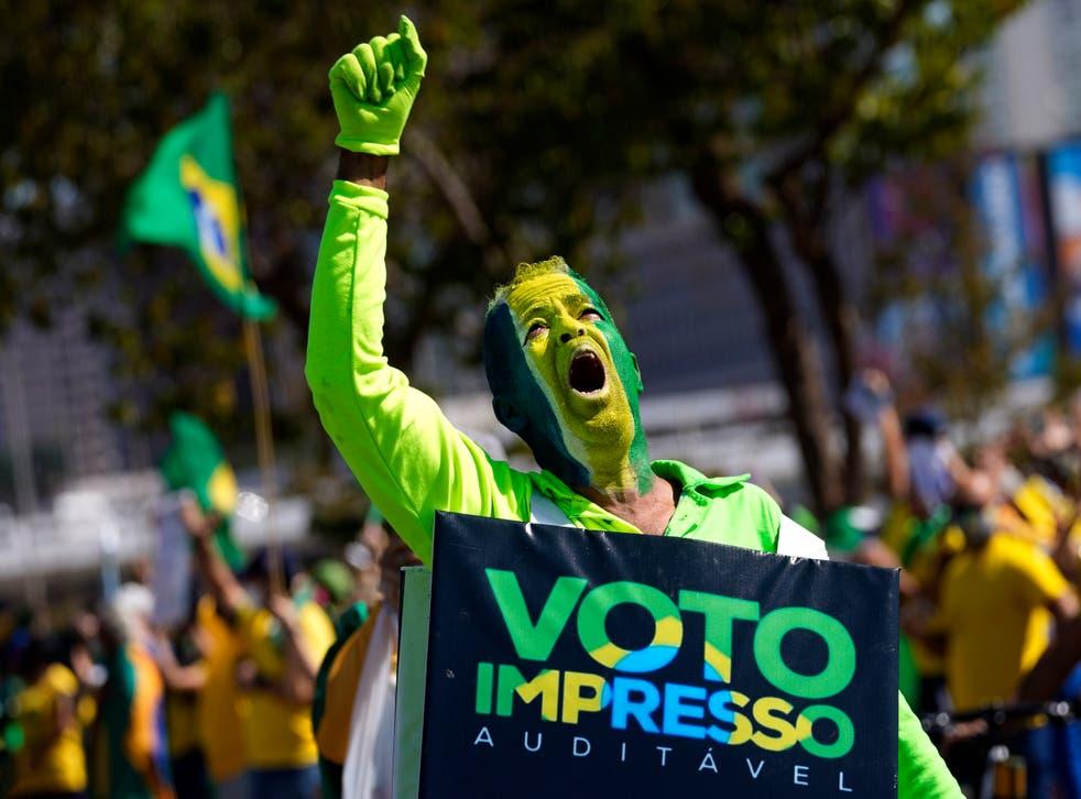 APTOPIX Brazil Pro-Bolsonaro Rally
