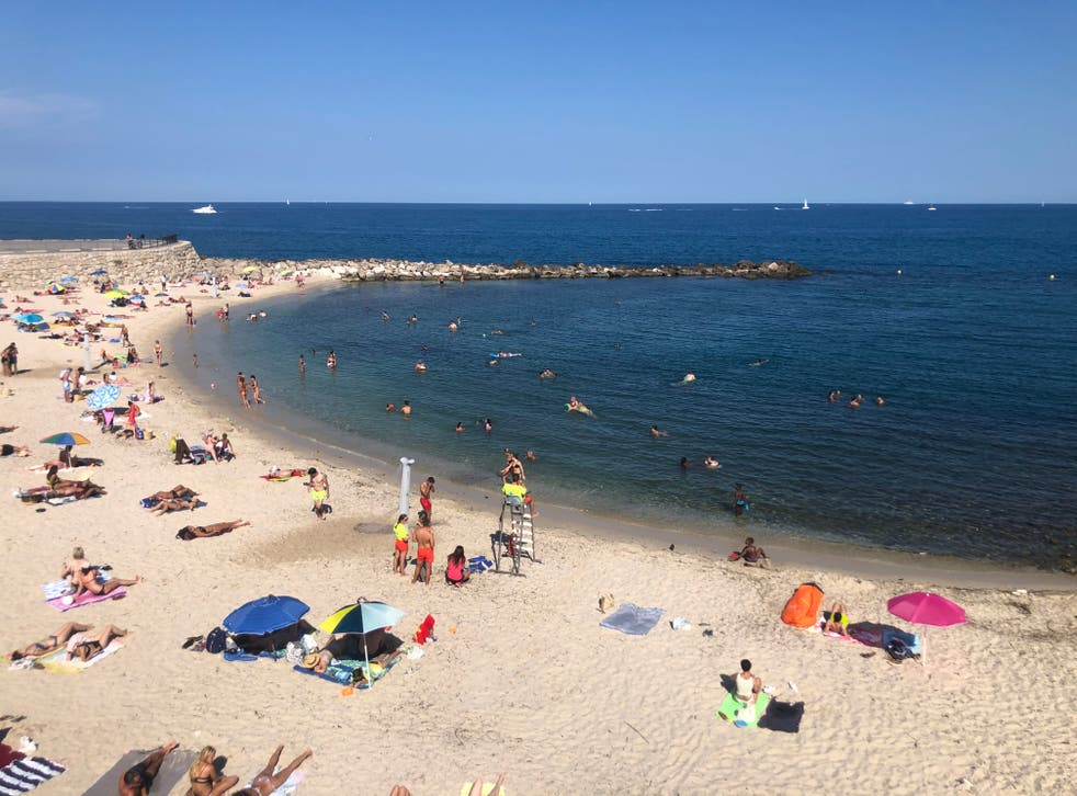 <p>Danger zone: a beach in the south of France, on the 'amber plus' list</p>