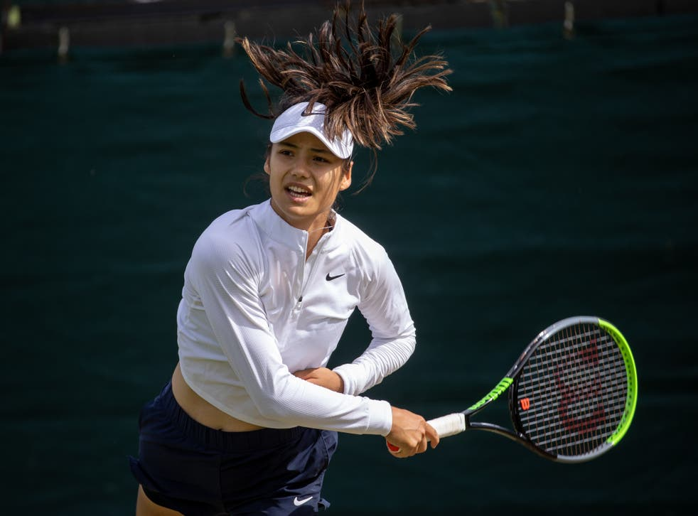 Emma Raducanu's first outing since her Wimbleson heroics ended in defeat (David Gray/AELTC Pool/PA)