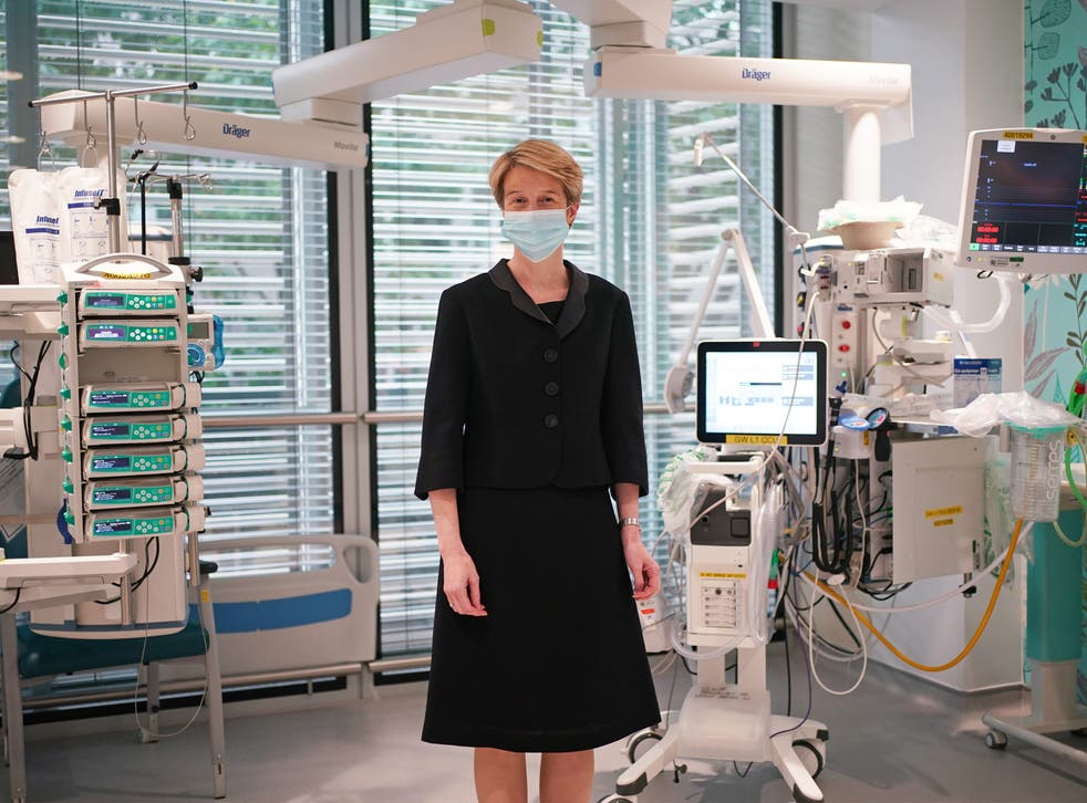 <p>Amanda Pritchard during a visit to University College Hospital London, following the announcement of her appointment as the new chief executive of the NHS in England.</p>