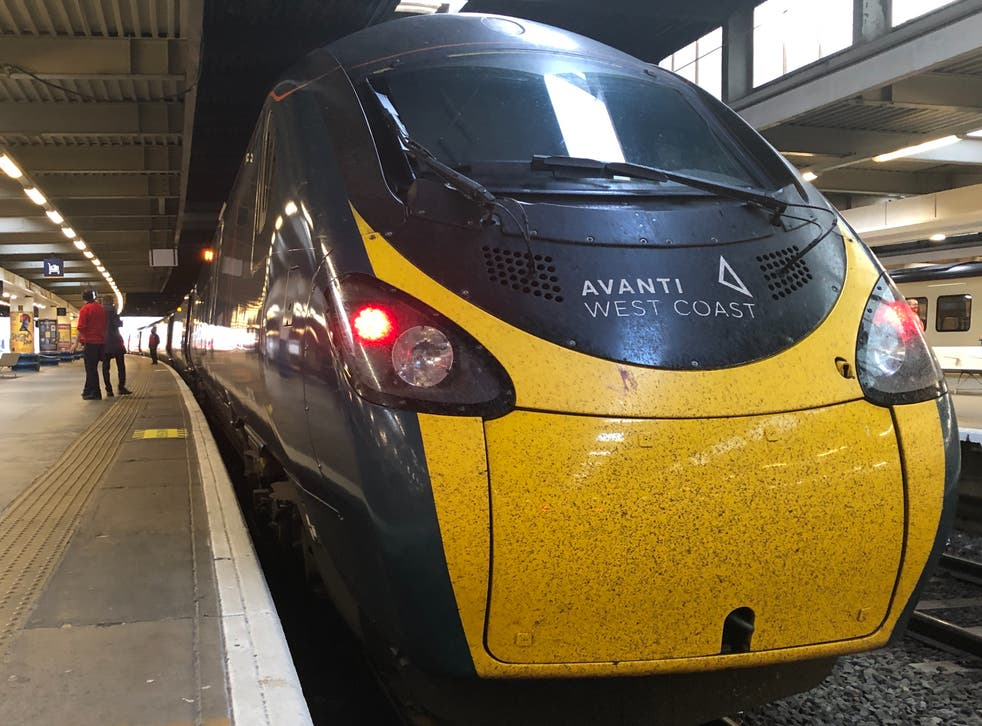 <p>Rare sight: Avanti West Coast trains from London to Manchester are reduced from three to one per hour</p>