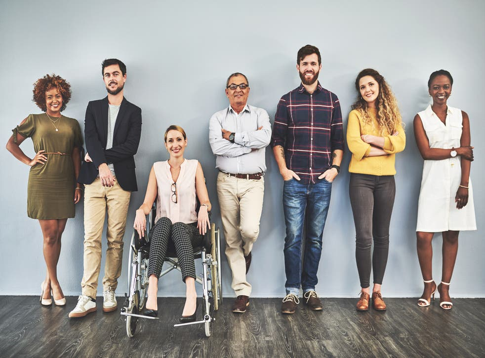 <p>Diverse group of qualified businesspeople</p>