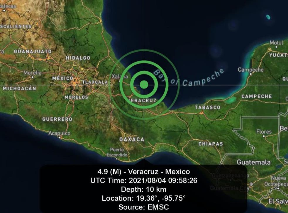 <p>De acuerdo al Servicio Sismológico Nacional, el epicentro fue a 10 kilómetros mar adentro de la costa de Veracruz</p>