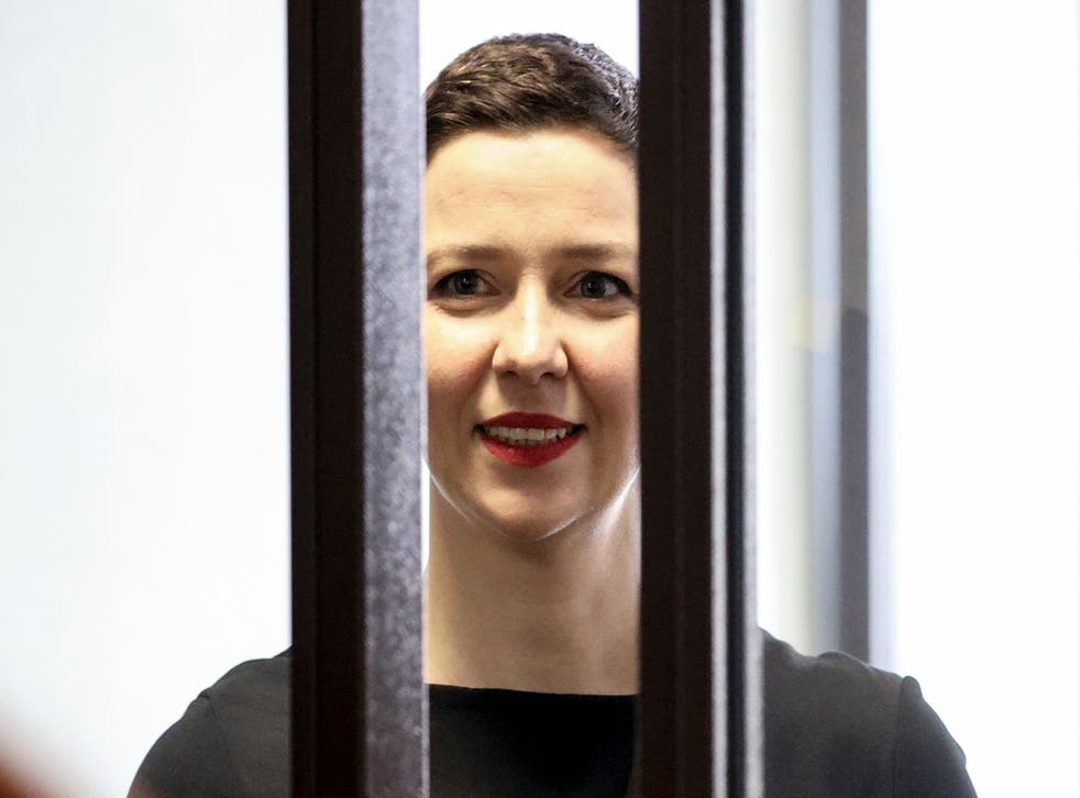<p>Maria Kolesnikova attends court on Wednesday</p>