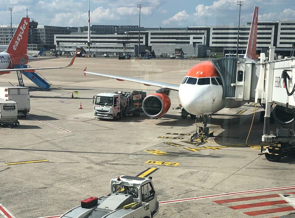<p>Lift off? easyJet aircraft at Paris Charles de Gaulle airport</p>