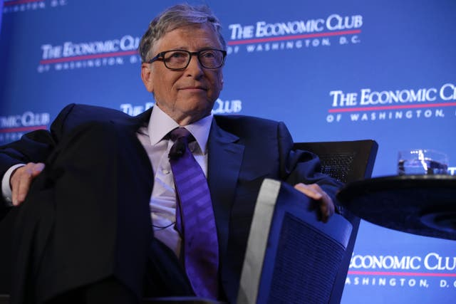 <p>File: Microsoft co-founder Bill Gates participates in a discussion on 24 June 2019 in Washington, DC</p>