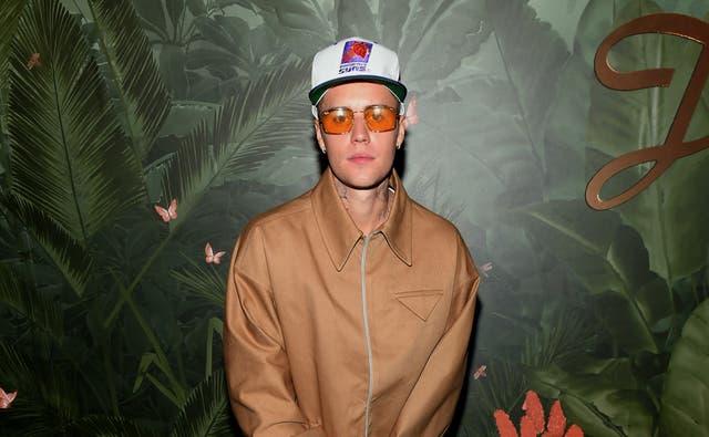 <p>File image: Justin Bieber at h.wood Group's grand openingof Delilah at Wynn Las Vegas in July 2021</p>