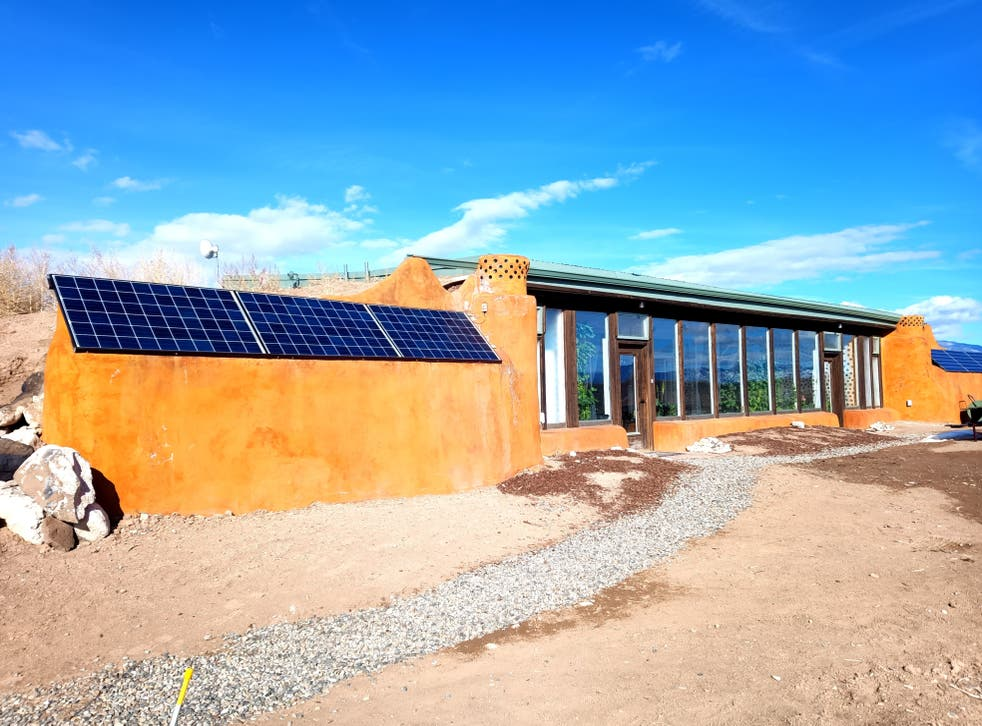 <p>The Earthship visitor centre</p>