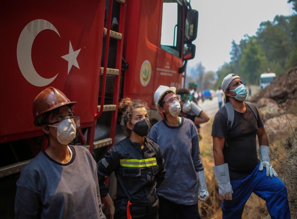 Turkey Wildfires Volunteers