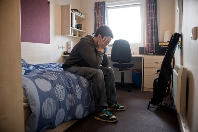 A Generic Photo of a stressed male student. See PA Feature FAMILY Student Mental Health. Picture credit should read: Alamy/PA. WARNING: This picture must only be used to accompany PA Feature FAMILY Student Mental Health.