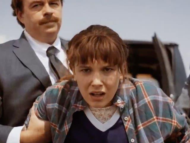 Millie Bobby Brown como Once en 'Stranger Things'